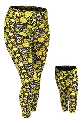 Unique Baby Girls Happy New Year Mommy and Me Matching Leggings (Kids 18m) Gold