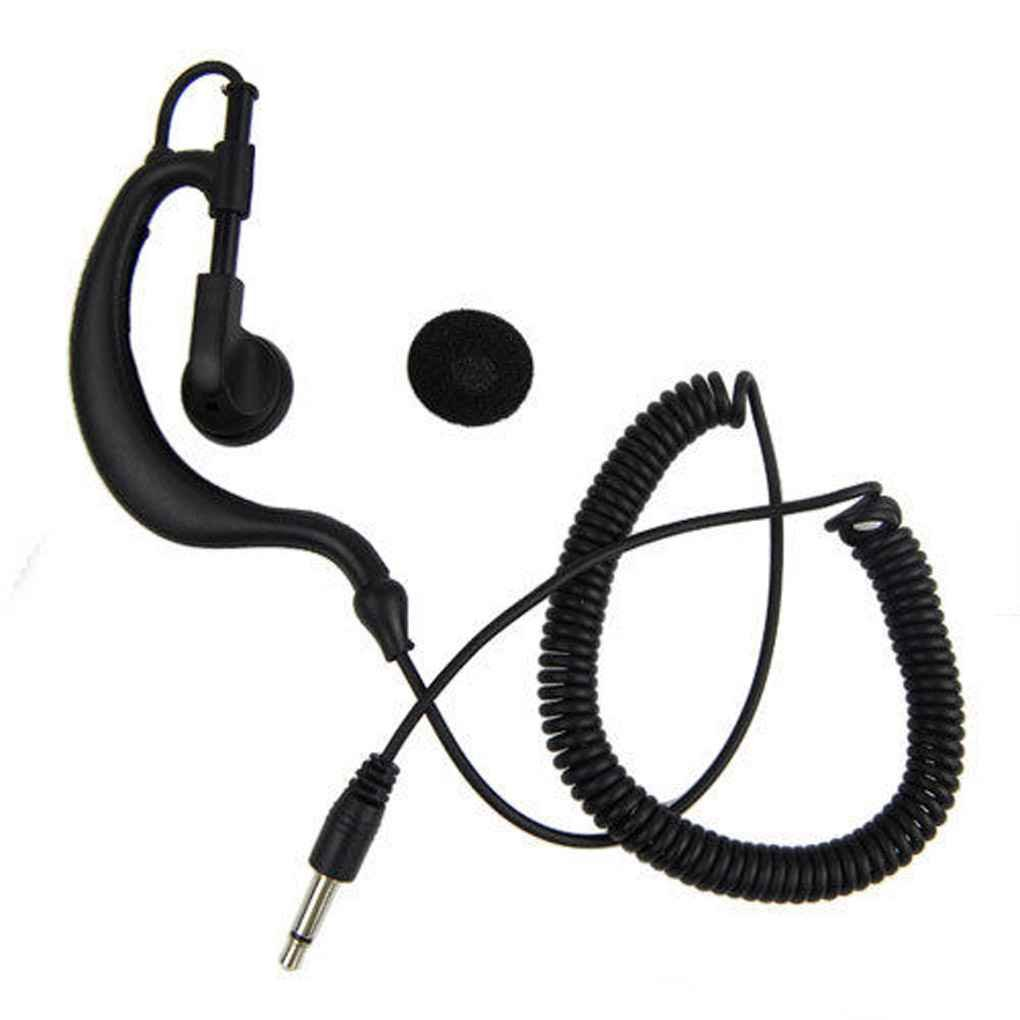 M-Egal Air Tube Listen Only Earpieces with 3.5mm Plug for Walkie Talkie/Two Way Radio