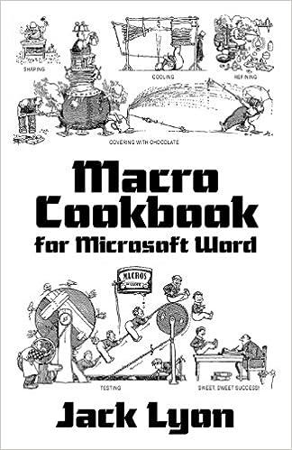 amazon macro cookbook for microsoft word jack m lyon visual basic