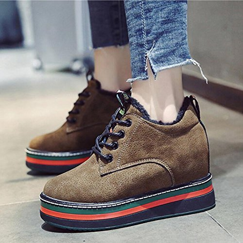 Autumn Korean Girls Shoes Plus Sponge Warm Cotton Winter Thick KHSKX Fashion 39 Increase Cake Version Shoes Single And Casual New Women'S Velvet Of To Shoes qPCfd