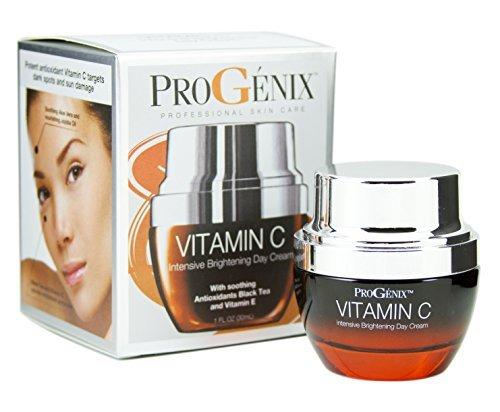 Progenix Vitamin C Intensive Brightening Day Cream for dark spots, age spots, and uneven skin tone. - Brightening Intensive