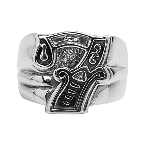 Anazoz S925 Sterling Silver Vintage Style Retro Number 7 Lucky Band Men Punk Rings Size - Day Hours Next Delivery Ups