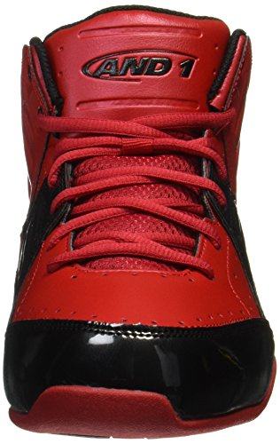 AND1 and 1 Mens Rocket 4-M Basketball Shoe Fabric Red/Black x9AVOqy