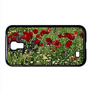 Field Of Flowers Watercolor style Cover Samsung Galaxy S4 I9500 Case (Landscape Watercolor style Cover Samsung Galaxy S4 I9500 Case) by icecream design