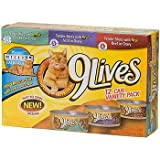 9 Lives Chicken, Veal and Beef Tender Slices Canned Cat Food in Gravy, My Pet Supplies