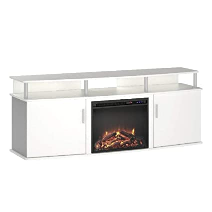 Amazon Com Ghy 70 Fireplace Stand White Narrow Large Wooden Tv