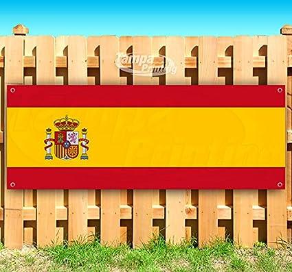 Bandera de España 13 oz cartel de vinilo resistente con ojales de ...