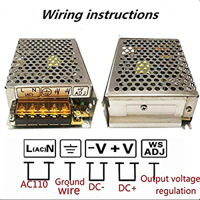 5V Power Supply,PHEVOS AC110V to DC 5v 8A Universal Switching Power Supply for Raspberry PI Models,CCTV, Radio, Computer Project,WS2812B WS2811 WS2801 APA102 LED Strips Pixel Lights (5V8A): Home Audio & Theater