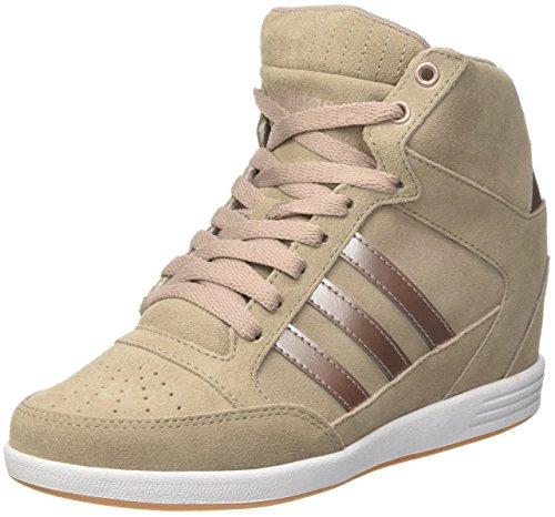 adidas Damen Super Wedge W Sneakers Grau (Grivap/grmeva/ftwbla)