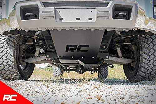 Rough Country Front Skid Plate Armor Compatible w/ 2014-2018 Chevy Silverado GMC Sierra 1500 w/RC Knuckle Kit 222