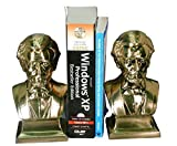Pm Craftsman Lincoln Bust Bookends Brass