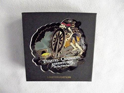 Disney Pirates of the Caribbean Adventures of the 7 Seas Lagoon, LE 750 #51929 Jumbo Pin, - Lagoon Disney