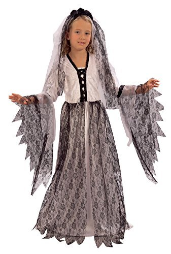 Girls Corpse Bride Costume for Halloween Zombie Living Dead Fancy Dress Outfit Child (S) by Partypackage Ltd -
