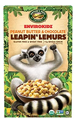 Envirokidz Organic Leapin' Lemurs Peanut Butter and Chocolate Cereal, 10 Ounce by Nature's Path