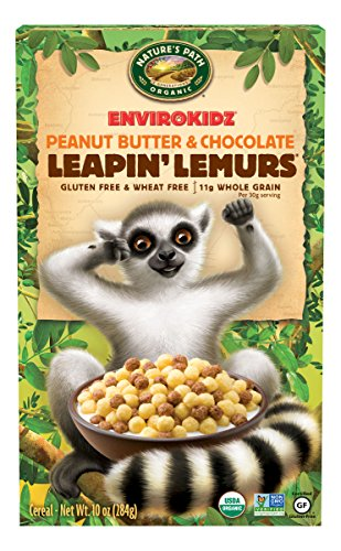 EnvirokidzOrganic Gluten-Free Cereal, Peanut Butter & Chocolate Leapin' Lemurs, 10 Ounce Box (Pack of 6)