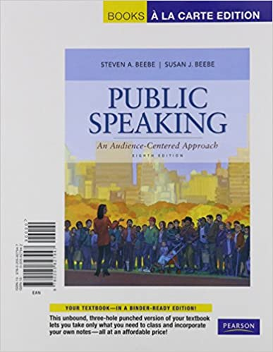 public speaking myspeechlab an audience centered approach books a la carte edition