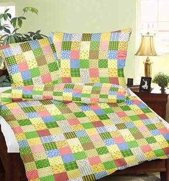 Genießedenschlaf Seersucker Bettwäsche Aus 100 Baumwolle Patchwork