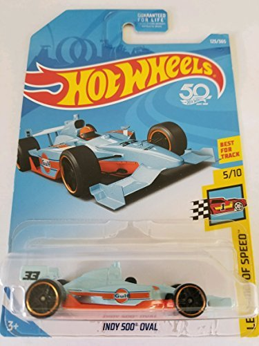 Hot Wheels 2018 50Th Anniversary Legends Of Speed Indy 500 Oval 123 365  Light Blue