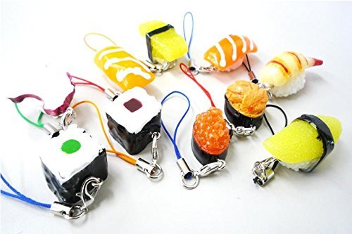 (SUSHI small charms -50pcs - Japanese Cell Phone charms)