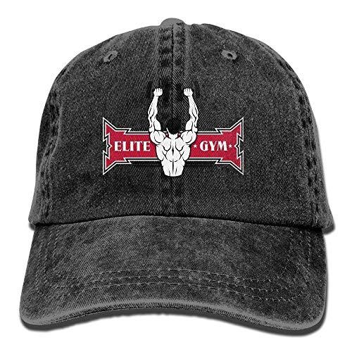 biernsege Elite Gye Fitness Denim Baseball Caps Hat Adjustable Cotton Sport Strap Cap for Men Women