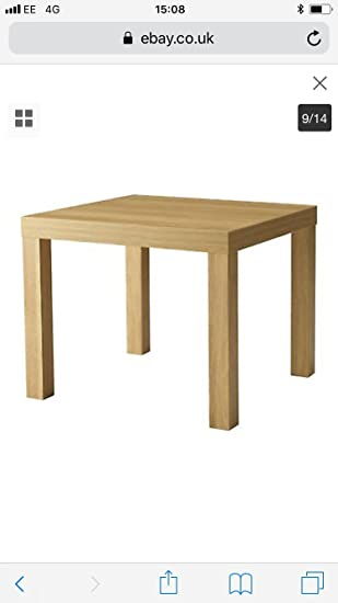 Side Table End Display 55cm Square Small Coffee Table Office