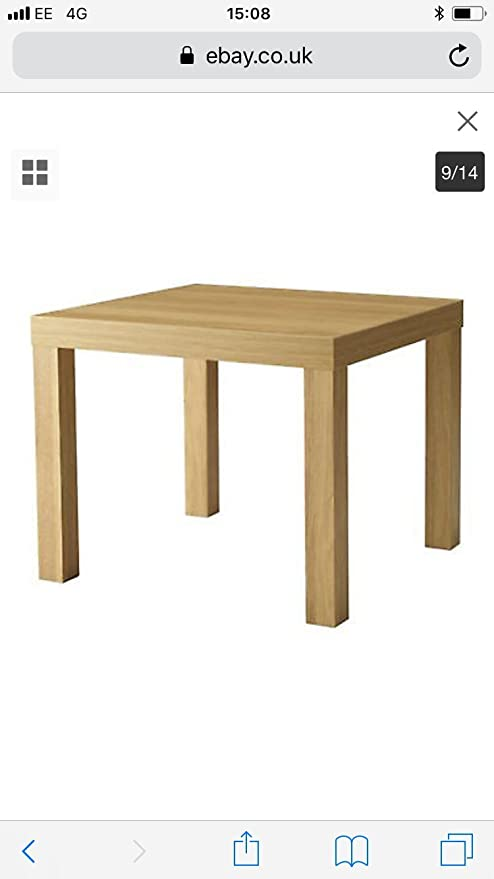 Tavolino Basso Ikea.Ikea Lack Tavolino Basso Da Divano 55 X 55 Cm Colore Naturale