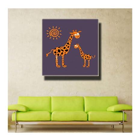 Dibujos animados Animales lindos imprimen pintura sobre ...