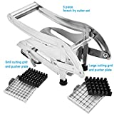 Sopito Professional Grade French Fry Cutter, Stainless Steel with Suction Base
