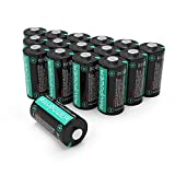 CR123A Lithium Batteries [Upgraded] RAVPower 3V Lithium Battery Non-Rechargeable, 16-Pack, 1500mAh Each, 10 Years of Shelf Life for Polaroid, Flashlight, Microphones and More (Certified Refurbished)