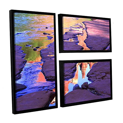 Used, ArtWall Dean Uhlinger 3 Piece Oak Creek Mirror Floater for sale  Delivered anywhere in Canada