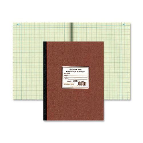 National Brand : Computation Book, Quadrille Rule, 9-1/4 x 11-3/4, Green, 75 Sheets per Pad -:- Sold as 2 Packs of - 1 - / - Total of 2 - Notebook Computation Ampad