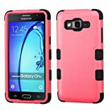 Wydan Case for Samsung Galaxy On5 - TUFF Hybrid Hard Shockproof Case Heavy Duty Protective Shock Absorbant Cover - Pink on Black w/Wydan Stylus Pen