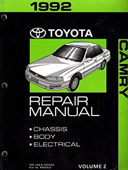 1992 toyota camry repair manual vol 2 chassis body electrical rh amazon com 1992 toyota camry repair manual pdf 1992 toyota camry repair manual pdf
