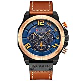 CRRJU Brand Men's Quartz Watches,Multifunction Army Men Sport Waterproof Chronograph Wrist Watches