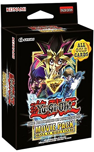 Yu Gi Oh ! Trading Cards (Yugioh TCG The Dark Side Of Dimensions Movie Pack Gold Edition)