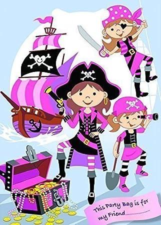 12 x Rosa Pirata Bolsas Cotillón: Amazon.es: Juguetes y juegos