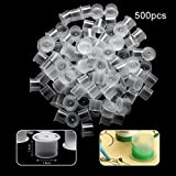 Tattoo Cups, 100/500/1000 Pcs Disposable Small Ink Pigment Caps Plastic Cups Tattoo Supplies (Large, 500Pcs)