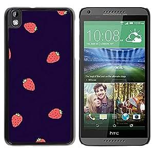 FlareStar Colour Printing Strawberry Summer Berries Purple Red cáscara Funda Case Caso de plástico para HTC DESIRE 816