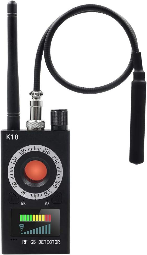 Detector Anti Espía Buscador de Cámara UYIKOO Detector de señal RF Detector de Errores GPS Detector de Cámara Oculta Radar Radio Escáner Detector de Frecuencia para Dispositivo de Seguimiento gsm