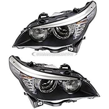 Pair New Left Right Genuine OEM Hella Xenon Headlights For BMW 5 Series E60