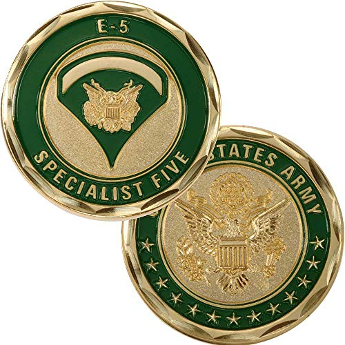 (Medals of America Army Specialist 5 Challenge Coin Gold)
