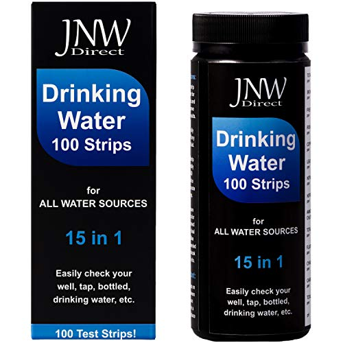 JNW Direct Water Test Strips 15 in 1 - Drinking Water Testing Strip Kit for Lead, Iron, Copper, pH, Fluoride, and More, Fast & Accurate, 100 ()
