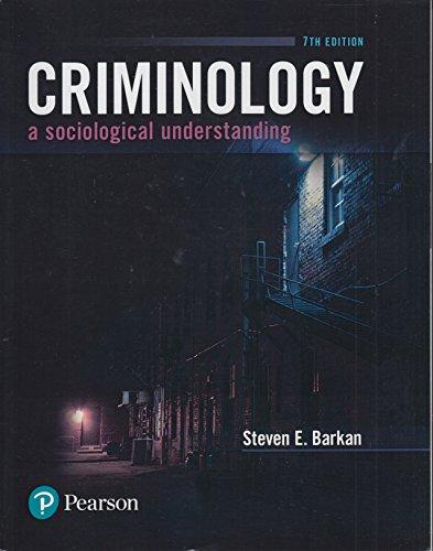 Criminology:Sociological Understanding