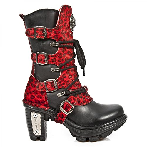 New Rock Handmade M Neotr005 C13 Schwarz Damen Stiefel