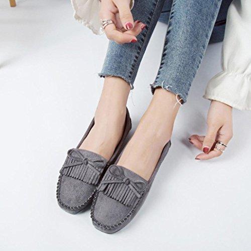 Head Gray Peas Shoes Shoe Slip Casual Lazy Flats Slip Round Fashion Shoes Women Non Sole on EqwZZfA