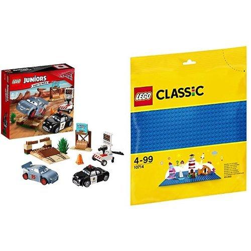 [해외] 레고 (LEGO) 쥬니어 디즈니 Cars/카 우리의 스피드 트레이닝 10742 & 클래식 기초 판(블루) 10714