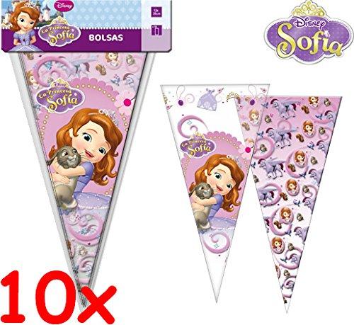 Disney 10 Bolsas de Fiesta * Princesa Sofia Cono/Cumpleaños ...
