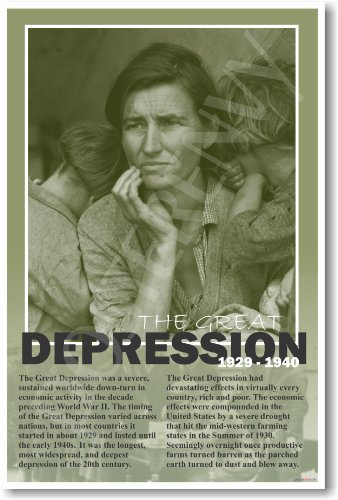 American History: The Great Depression - Classroom Poster