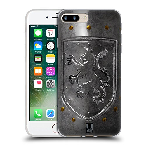 Head Case Designs Lionheart Shield Medieval Armory Soft Gel Case for Apple iPhone 7 Plus / 8 Plus (Shield Lionheart)
