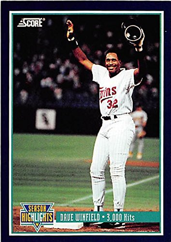 - Dave Winfield baseball card (Minnesota Twins Hall of Fame) 1993 Score #629 3000 Hit